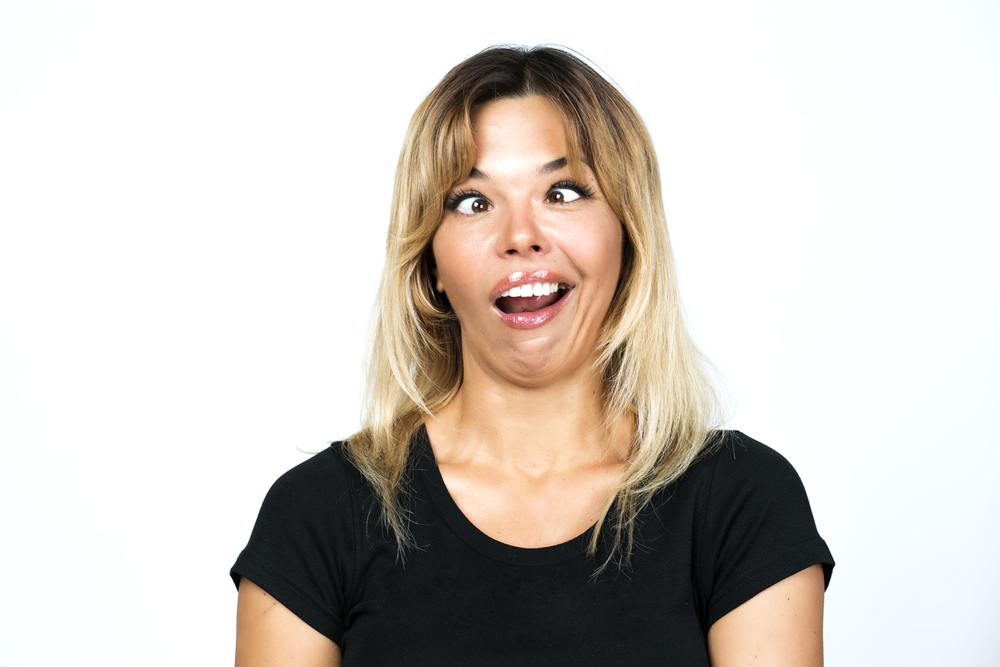 silly face woman