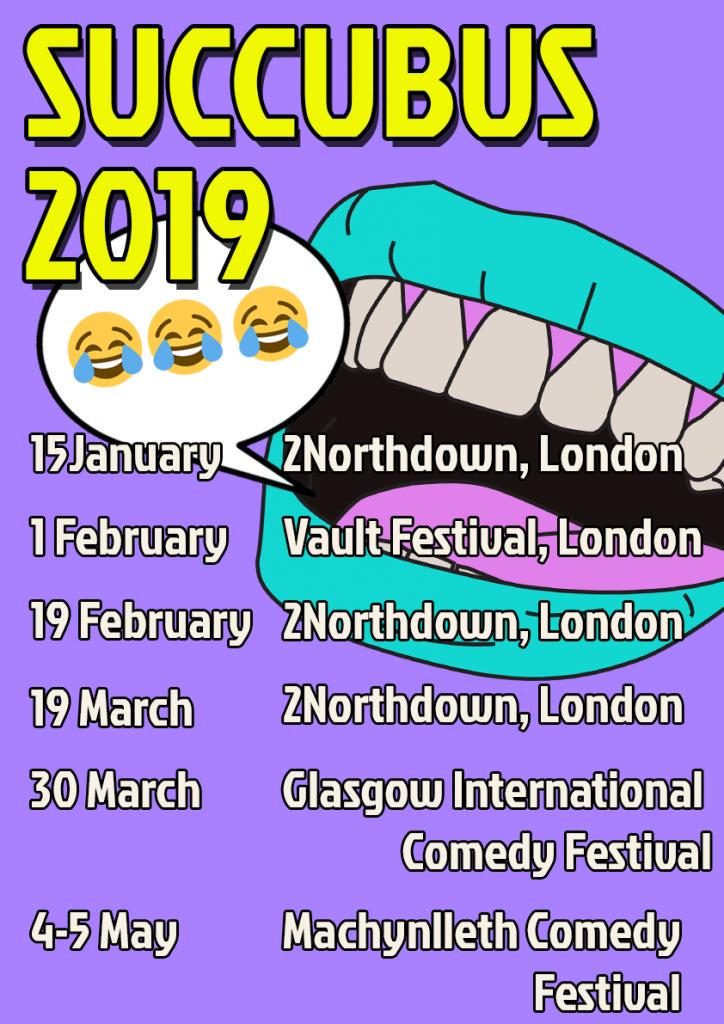 Succubus 2019 tour poster